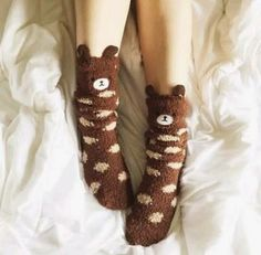 So cute and comfy! Fluffy Socks, Cozy Socks, Look Cool, Cool Style, Cute Slippers, Kawaii Accessories, Kawaii Clothes, Sock Shoes, Aesthetic Clothes