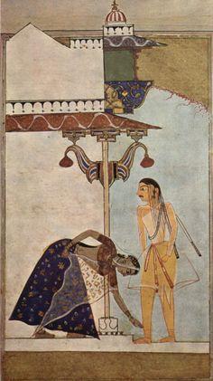 Laur-Chandâ-Handschrift, Weibliche und Männliche Figur, ca. 1530, India