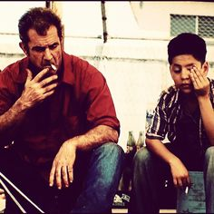 Mel Gibson smoking with a kid in Get the Gringo. Keepin' it classy.