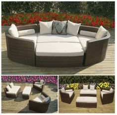Ohana Wicker Furniture's Popular Daybed Sofa Set. Only $1499. // Ohana - Outdoor Patio Furniture