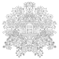 Inspirational coloring pages from Secret Garden, Enchanted Forest and other coloring books for grown-ups. Make your world more colorful with free printable coloring pages from italks. Our free coloring pages for adults and kids. Adult Coloring Pages, Coloring Pages For Grown Ups, Colouring Pages, Printable Coloring Pages, Free Coloring, Coloring Sheets, Coloring Books, Mandala Coloring, Colorful Pictures