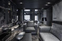 """Daring Monochromatic Interior Scheme: """"Home in Black Serenity"""" in Taipei - http://freshome.com/2013/10/23/daring-monochromatic-interior-scheme-home-black-serenity-taipei/"""