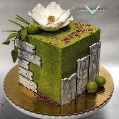 Photo - Celebration cakes for women, Party organization ideas, Party plannig business Beautiful Cake Designs, Beautiful Cakes, Amazing Cakes, Crazy Cakes, Strawberry Cream Cakes, Ice Cream Birthday Cake, Green Cake, Modern Cakes, Spring Cake