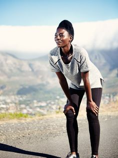 Bridget from Zimbabwe. Woman fashion Out jogging www.patriklinden.se