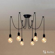 Подвесной светильник - паук на 6 ламп — фотография №1