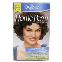 Ogilvie Home Perm The Original Kit for Normal Hair Now With Extra Body Lasting Smooth Curls & waves Before & after Conditioners Now With Drip Guard. For Soft, Manageable Curls and Body That Lasts. Ogilvie Home Perm is appropriate for all hair types. However, it is not recommended for hair that is highlighted, frosted, bleached, color-treated or previously straightened with relaxers containing lye or guanidine carbonate.