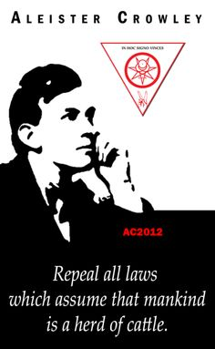 """Repeal all laws which assume that mankind is a herd of cattle"" - Aleister Crowley Magick, Wicca, Witchcraft, Pagan, Aleister Crowley, Words With Friends, Shadow Warrior, Wisdom Quotes, Tarot"