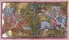 Medieval Archer, Medieval Art, Historical Art, Moose Art, Objects, Bows, Illuminated Manuscript, Search, Animals