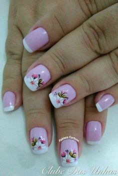 Perfect Colorful Floral Nail Design – 9 It's your turn to have great nails! Check out this year's most … Great Nails, Fabulous Nails, Spring Nails, Summer Nails, Flower Nails, Cookies Et Biscuits, French Nails, Nail Arts, Toe Nails
