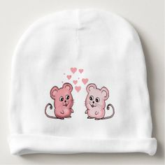 Mice Love Baby Beanie
