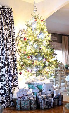 Table Top Christmas Tree at night