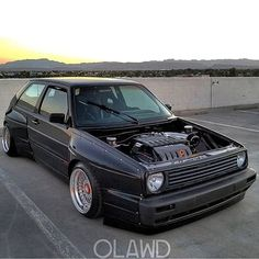 "Wide mk2 Golf VW and Porsche Tuning Page (@corrado_carreras) na Instagramu: ""Wide body mk2...awesome owner: @vw_manny  regram: @jowbones  #golf #mk2 #widebody #supercar…"""
