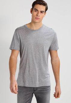 Filippa K. ADRIEN  - T-shirts - grey melange. Ermelengde:Korte ermer. Lengde:normal lengde. Totallengde:74 cm i størrelse M. Overmateriale:67% lyocell, 33% bomull. Mønster:melert. Materiale:jersey. Passform:normal. Hals/utringning:rund hals. M...