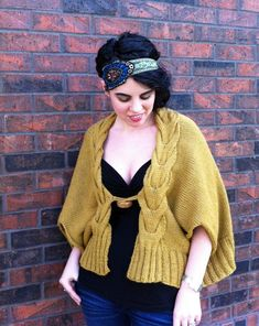 Horseshoe Cabled Cape knitting pattern
