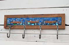 Entryway Coat Hooks Coat Hooks Mosaic Coat by PhoenixHandcraft