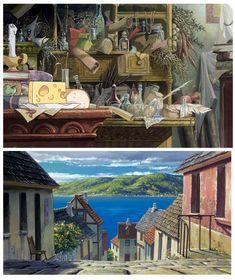Howl's Moving Castle (O Castelo Animado), do Ghibli Studio Ghibli Background, Animation Background, Art Background, Castle Background, Howl's Moving Castle, Art Studio Ghibli, Studio Ghibli Movies, Hayao Miyazaki, Howl Movie