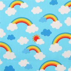 http://www.kawaiifabric.com/en/p11525-blue-cute-rainbow-cloud-laminate-fabric-from-Japan.html