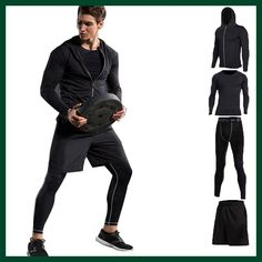 Vansydical New Men Compression Sport Suits Tights Skins Base Layers Basketball Shirts Pants For Gym Fitness Running Sets – Direct Factory Price Store Basketball Shirts, Basketball Compression Pants, Basketball Players, Basketball Outfits, Basketball Court, Tailor Made Suits, Popular Sports, Gym Fitness, Gym Workouts