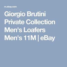 Giorgio Brutini Private Collection Men's Loafers Men's 11M | eBay