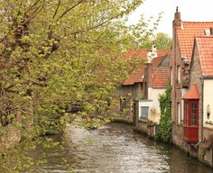"Brugge is sometimes referred to as, ""The Venice of the North,"" due to the many buildings built along the winding canals...and it is so lovely..."