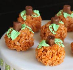 Rice Krispie treats with pumpkin