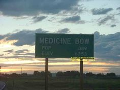 Medicine Bow Wyoming a town of 389 inhabitants and more famous....The Virginian