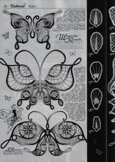 Бабочки в румынском кружеве - подборка схем из журнала *Дуплет*. Обсуждение на LiveInternet - Российский Сервис Онлайн-Дневников