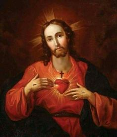 The beautiful Sacred Heart of my Lord and Saviour Jesus Christ. God and Jesus Christ