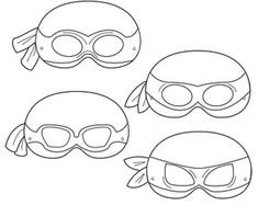 template for ninja turtle mask Ninja Turtle Mask, Ninja Mask, Ninja Turtle Party, Ninja Turtles, Villain Mask, Dinosaur Mask, Dinosaur Printables, Photos Booth, Printable Masks