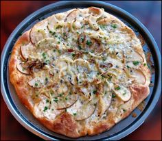 Image result for pear shallot goat cheese pizza