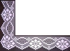 Bildergebnis für un'arte per creare filet pocket Crochet Mandala Pattern, Crochet Lace Edging, Crochet Borders, Crochet Flowers, Tatting Patterns, Crochet Stitches Patterns, Crochet Designs, Filet Crochet Charts, Crochet Diagram