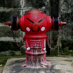 street art. Fire hydrant