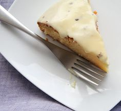 White chocolate cake with tangy passion fruit icing: www.44cookhamroad.blogspot.com