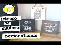 DIY LETRERO DE MADERA PERSONALIZADO   ROOM DECOR - YouTube