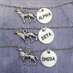 Items similar to The Original Alpha, Beta, Omega Wolf Pack Best Friend Necklaces on Etsy Bff Necklaces, Best Friend Necklaces, Friendship Necklaces, Best Friend Jewelry, Diamond Necklaces, Wolf Jewelry, Cute Jewelry, Jewelry Accessories, Silver Jewelry