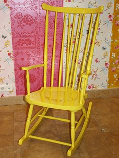 I have an old rocker from an estate sale...maybe it needs a face lift? not sure about yellow...