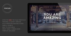 Focus - Fully Responsive Portfolio Template (Portfolio) Download - PROFIREFOX