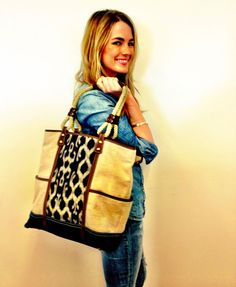 Designer Rafé Totengco named a trio of ethical handbags after Amanda Hearst, the sustainable fashion editor at Marie Claire. That gorgeous fabric is called T'nalak, and it's hand-woven by women of the T'boli tribe in the Philippines – Totengco's homeland. #artisans #tradenotaid
