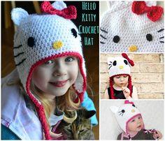 FREE Crochet Pattern: Gorgeous Hello Kitty Hat
