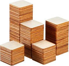 Unfinished Wood Pieces Blank Wood Squares Round Corner Wooden Cutouts for DIY Supplies, Craft, Decoration, Laser Engraving Carving unfinished wood squares - Wood Crafts Its A Girl Banner, Wooden Calendar, Wooden Cutouts, Wood Sizes, Wood Square, Wood Plaques, Laser Cut Wood, Diy Supplies, Unfinished Wood