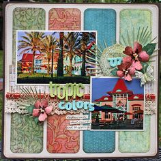 Love how well the patterned papers complement the photos!  Gorgeous!