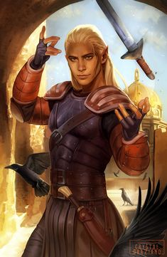 """""""I fancy many things. I fancy things that are beautiful and things that are strong. I fancy things that are dangerous and exciting. Would you be offended if I said I fancied you?"""" You gotta hand it to Zevran, maybe he fails at assassination and... by crstalgraziano"""