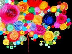 Marina Retamar: Pintura acrilico sobre soporte de madera