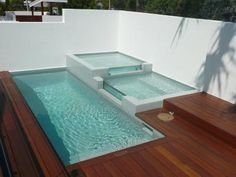 Lap Infinity Pools glass plunge pool this plunge pool with feature ponds and