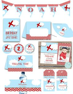 AIRPLANE INVITATION Premium Party Pack by littlebirdieprints, $49.00