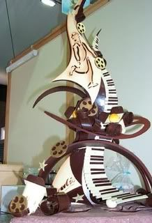Chocolate Abstract Sculpture - My WordPress Website Chocolate Week, I Love Chocolate, Chocolate Heaven, Chocolate Art, Chocolate Lovers, Chocolate Showpiece, Food Sculpture, Chocolate Decorations, Fruit Art