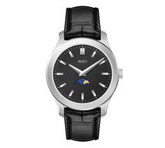 Manhattan 40 Moonphase Brushed - Jet Black - MAEN Watches