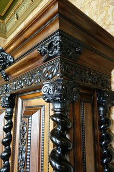 Wooden ornaments for custom cabinet furniture and historic woodwork.