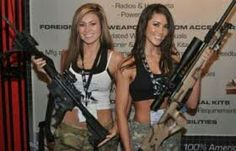 Outdoor Girls, Military Women, Military Army, Female Soldier, Big Guns, N Girls, Guns And Ammo, Country Girls, Lady