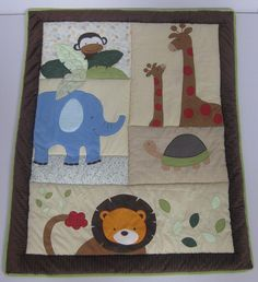 Animal Patchwork Baby Quilt. Make this?
